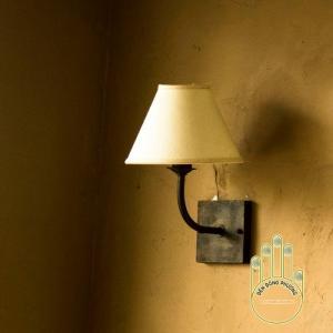 Đèn gắn tường Châu Âu chụp vải