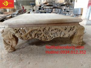 Sập gỗ gụ chạm đẹp hàng chất lượng