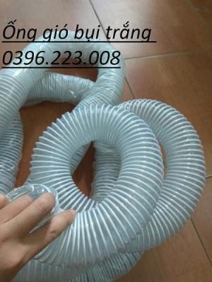 Ống hút bụi lõi thép ( ống gió bụi trắng ) phi 150