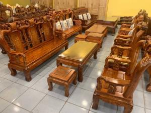 Bộ bàn ghế tay 10 gỗ hương vân tuyển cực đẹp, uy tín - chất lượng
