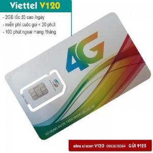 2020-03-27 19:38:54  1  Sim Viettel V120-free 60GB THÁNG-Miễn phí sử dụng THÁNG ĐẦU 189,000