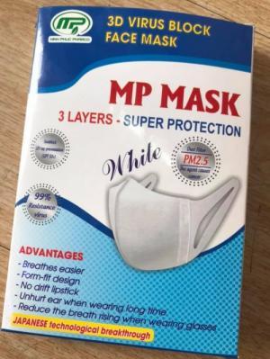 Khẩu trang kháng khuẩn 3D MP MASK Công Nghệ Nhật Bản 10 cái