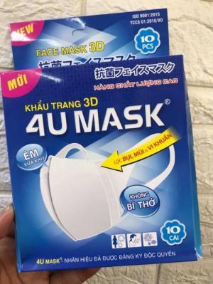 2020-03-27 20:34:57  6  Khẩu trang 3D kháng khuẩn 4U MASK Công Nghệ Nhật Bản (hộp 10 cái) 165,000