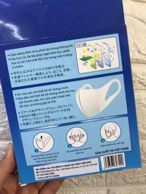 2020-03-27 20:34:57  4  Khẩu trang 3D kháng khuẩn 4U MASK Công Nghệ Nhật Bản (hộp 10 cái) 165,000