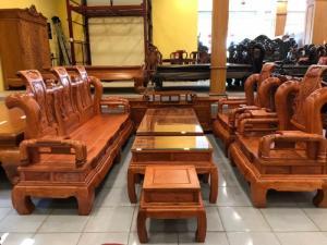 Bộ bàn ghế Tần Thủy Hoàng cột 14 liền VIP giá tốt tại Sài Gòn
