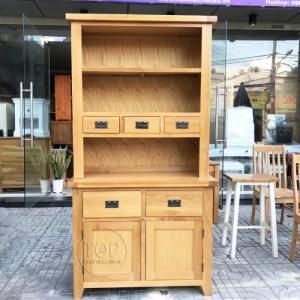 Tủ bếp gỗ sồi 2 phần 2 cánh 5 ngăn TOP-SP1181
