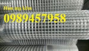 Lưới mắt cáo, lưới hàn mạ kẽm dây 1ly ô 10x10