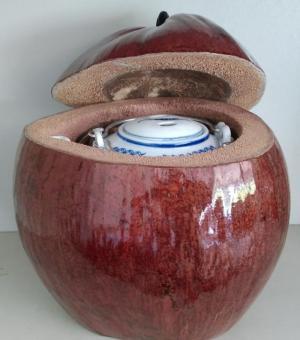 Combo: Vỏ + bình trà trái dừa (Bình trà 0,5-0,75 lít)