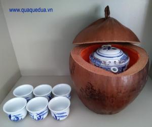 Trọn bộ bình trà trái dừa (Bình 0,5-0,75 lít)