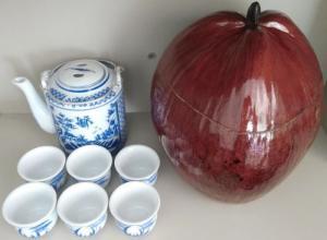 Trọn bộ bình trà trái dừa (Bình 0,9-1,0 lít)