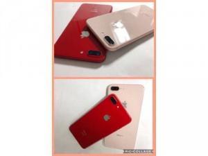 IPHONE 7PLUS-32G-QUỐC TẾ-LÊN VỎ IPHONE 8 PLUS-VÀNG HỒNG ROSE GOLD/ĐỎ PRODUCT RED.Như Mới99,9%.Chính hãng Apple