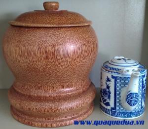 Combo: Bộ vỏ + bình trà gỗ dừa