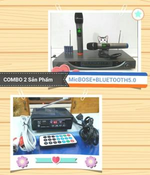 Combo Karaoke không dây Micro Bose +Bluetooth 5.0