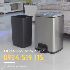 Bán thùng rác inox trong phòng, thùng rác inox tròn, thùng rác inox vuông