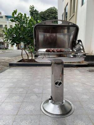 Bếp nướng ngoài trời than hoa Phù Đổng CK585 có lắp đậy