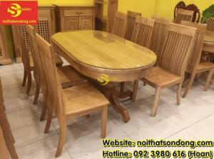 2020-04-01 10:15:22  2  Bàn ăn gỗ sồi oval 6 ghế giá rẻ 12,900,000