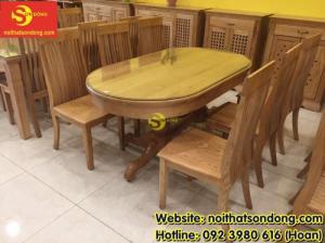 2020-04-01 10:15:22  4  Bàn ăn gỗ sồi oval 6 ghế giá rẻ 12,900,000