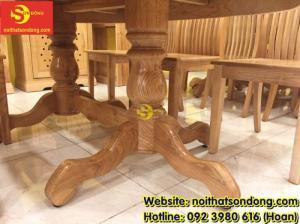 2020-04-01 10:15:22  7  Bàn ăn gỗ sồi oval 6 ghế giá rẻ 12,900,000
