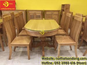 2020-04-01 10:15:22  5  Bàn ăn gỗ sồi oval 6 ghế giá rẻ 12,900,000