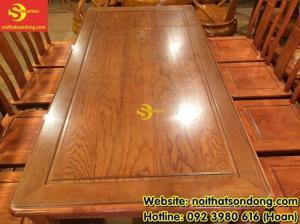 2020-04-01 10:32:50  2  Bộ bàn ăn gỗ tự nhiên cao cấp 8 ghế chữ thọ bàn vuông 12,800,000