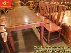 2020-04-01 10:32:50  6  Bộ bàn ăn gỗ tự nhiên cao cấp 8 ghế chữ thọ bàn vuông 12,800,000