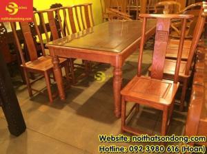 Bộ bàn ăn gỗ tự nhiên cao cấp 8 ghế chữ thọ bàn vuông