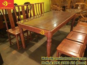 2020-04-01 10:32:50  9  Bộ bàn ăn gỗ tự nhiên cao cấp 8 ghế chữ thọ bàn vuông 12,800,000