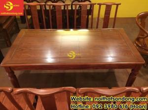 2020-04-01 10:32:50  3  Bộ bàn ăn gỗ tự nhiên cao cấp 8 ghế chữ thọ bàn vuông 12,800,000