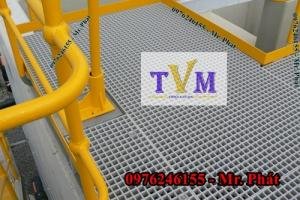 Chuyên bán tấm sàn lót kháng hóa chất frp grating giá sỉ