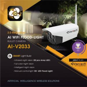 2020-04-01 12:44:23  3  Vantech Camera Wifi Flood Light Onvif Bullet 2.0MP AI-V2033 1,390,000