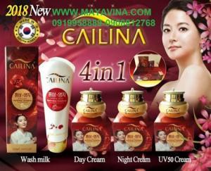 Cailina Bộ 4 Sản Phẩm Chăm Sóc Da Tinh Chất Linh Chi