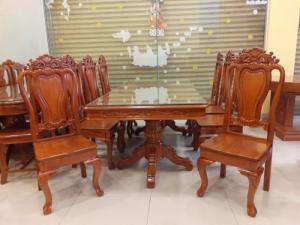 Bộ bàn ăn 8 ghế gỗ tốt giá rẻ tại xưởng. Uy tín - Chất lượng