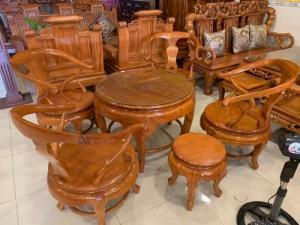 Bộ bàn trà bàn tròn 06 ghế