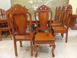 2020-04-02 14:35:27  3  Giá tốt nhất của bộ bàn ăn 8 ghế gỗ căm xe 20,500,000