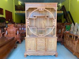 Tủ kệ trang trí gỗ gõ đỏ - hàng đẹp giá tại xưởng