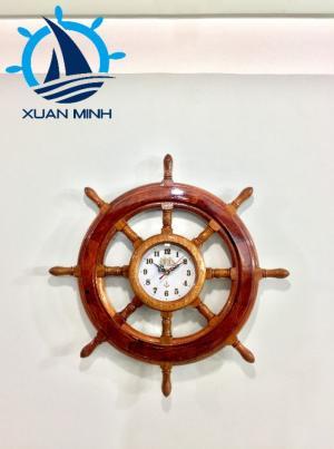 Mô hình Vô Lăng Tàu Gỗ Trang Trí Đủ size 40-50-60-80-100cm