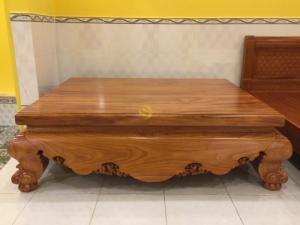 Sập nằm gỗ gõ đỏ ván mặt dày 10cm 1,6x2m siêu VIP