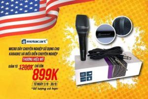 Micro Karaoke Relacart SM-300 có dây cao cấp