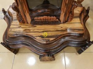 Đồng hồ hoa lan tây gỗ mun lớn siêu VIP