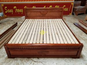 Giường ngủ xoan đào 1m8 giá rẻ