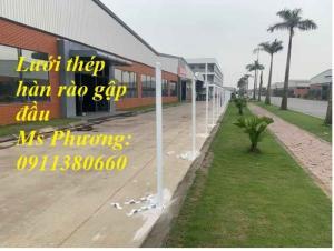 Hàng Rào Mạ Kẽm Sơn Tĩnh Điện Màu Trắng Sứ D4 Ô 50X150