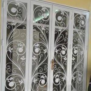 Thiết kế, gia công, khung cửa sổ sắt uốn cổ...
