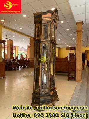 Đồng hồ tháp hoàng gia gỗ mun siêu VIP