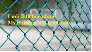 Lưới B40 Bọc Nhựa Làm Hàng Rào, Chống Gỉ, Bền Trong Mọi Thời Tiết