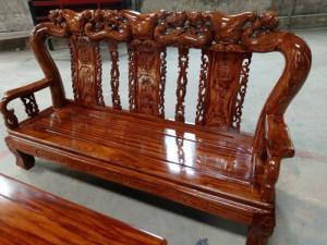 Bộ bàn ghế gỗ hương vân loang- vân cực đẹp. Uy tín - Chất lượng