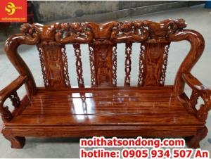 Bộ bàn ghế gỗ hương vân loang cột 12 vân siêu đẹp tại Sài Gòn