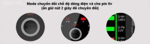 Sạc pin kiêm box dự phòng cho pin sạc lại BTY-V202+