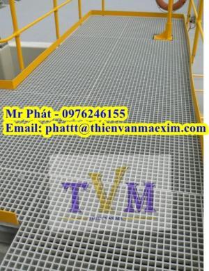 Fiberglass grating product - tấm sàn frp grating - sàn ô lưới sợi thủy tinh