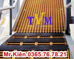 Tấm sàn ô lưới sợi thủy tinh kháng hóa chất, cách điện