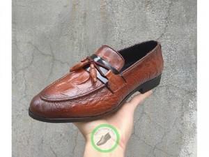 Giày lười nam chất liệu da bò tự nhiên